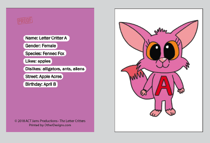 The Letter Critters ABC Trading/Flash Cards
